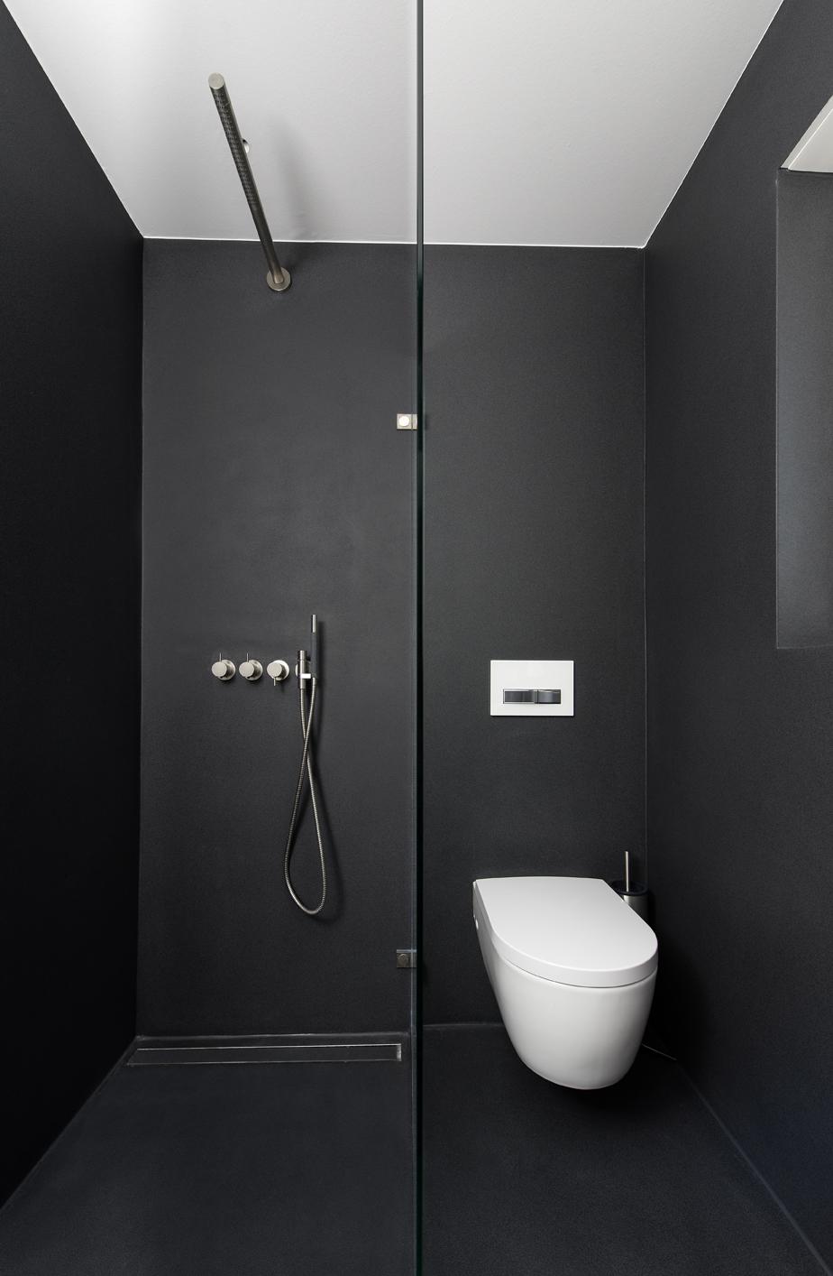 Dusche WC schwarz